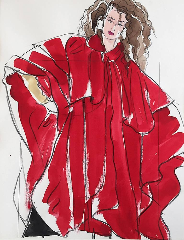 Woman in Red, Vogue Magazine, S. Burroughs,