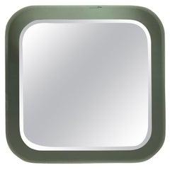 Antonio Lupi Round Corners Italian Wall Mirror by Cristal Luxor, 1960s