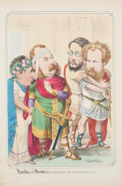 Parody of the Orestes  - Lithograph by A. Maganaro - 1872