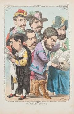 Puritani di Sinistra  - Lithograph by A. Maganaro - 1872