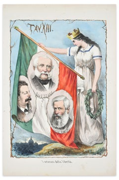 The Veterans of Freedom - Lithograph by A. Manganaro - 1872