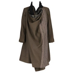 Antonio Marras Khaki Wrap Coat, 2000s