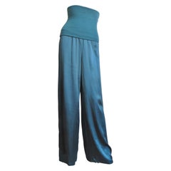Antonio Marras New Silk High Waist Pajama Pants Strapless Jumpsuit