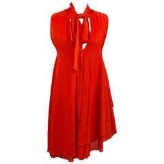 Antonio Marras Red Light Weight Knit Asymetrical Dress Size S