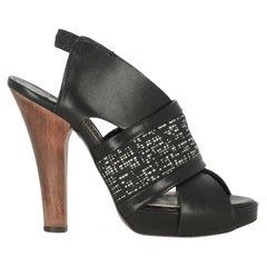 Antonio Marras Women  Sandals Black Leather IT 37
