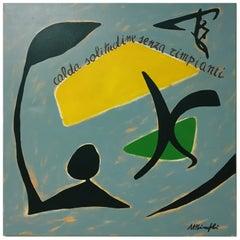 CALDA SOLITUDINE SENZA RIMPIANTI - Oil on canvas painting, Antonio Minopoli