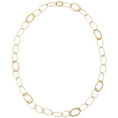 Antonio Papini Yellow Gold Link Chain Necklace