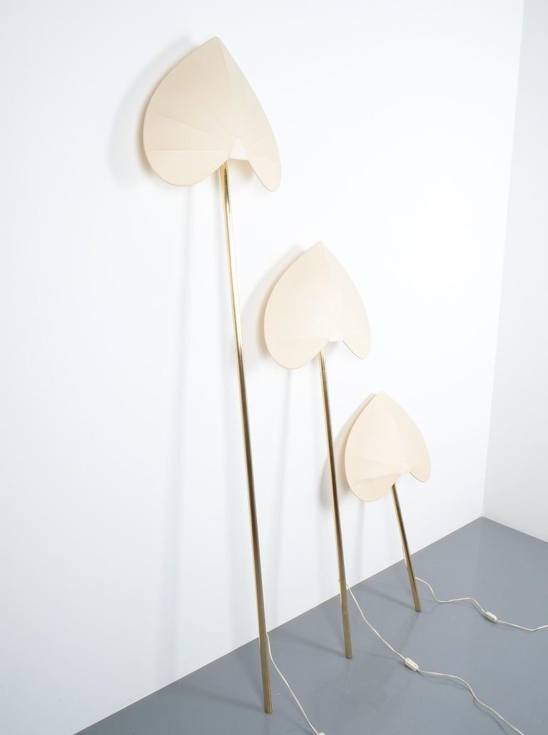Antonio Pavia Set of Three Floor Lamps or Sconces Brass, Italy, circa 1970 For Sale 4