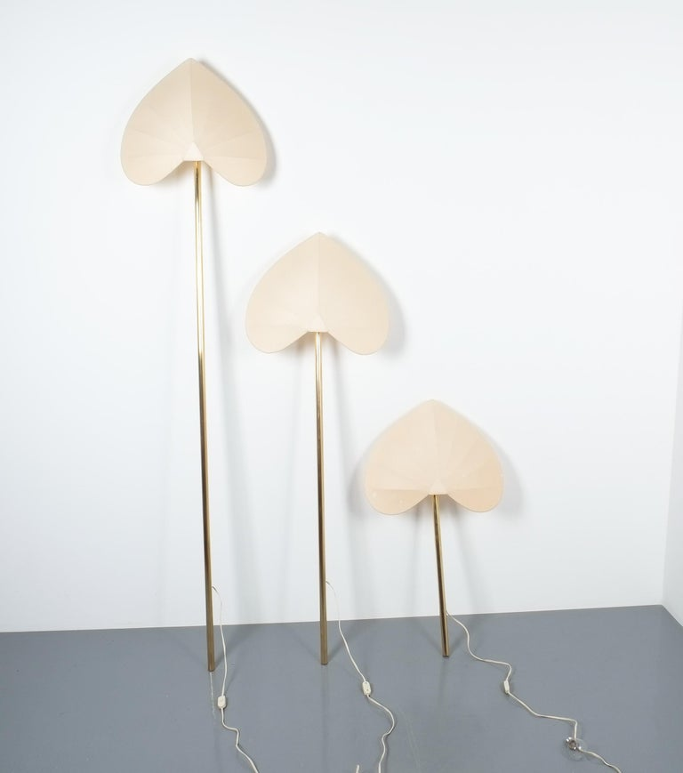 Antonio Pavia Set of Three Floor Lamps or Sconces Brass, Italy, circa 1970 For Sale 6