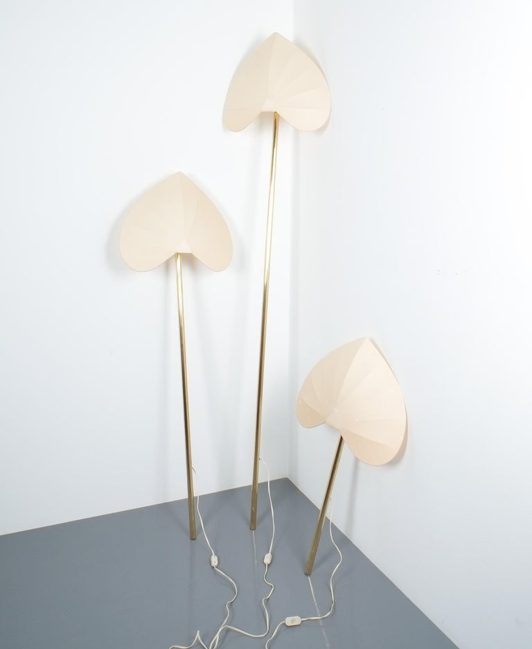Antonio Pavia Set of Three Floor Lamps or Sconces Brass, Italy, circa 1970 For Sale 7
