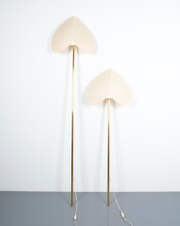 Polished Antonio Pavia Set of Three Floor Lamps or Sconces Brass, Italy, circa 1970 For Sale