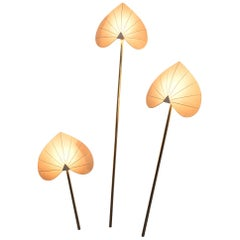 Antonio Pavia Set of Three Floor Lamps or Sconces Brass, Italy, circa 1970