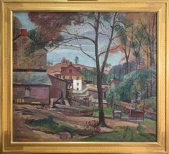 Antonio Martino, Clifton Houses, Oil on Canvas, 1929
