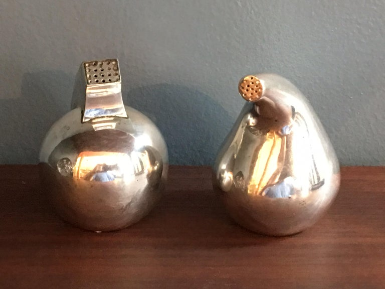 Antonio Pineda Mexican 925 Silver Salt and Pepper For Sale 2