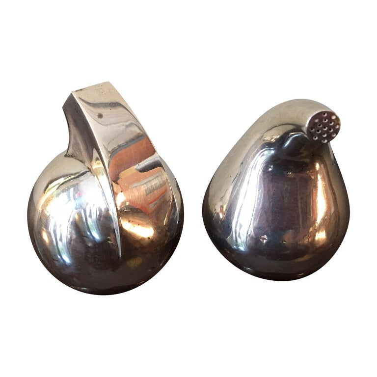 Antonio Pineda Mexican 925 Silver Salt and Pepper For Sale