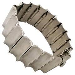 Antonio Pineda Mexican Mid-Century Modern .970 Silver Bracelet