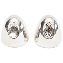 Antonio Pineda Sterling Silver Modernist Salt and Pepper Shakers