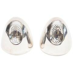 Antonio Pineda Sterling Silver Salt and Pepper Shakers Modernist
