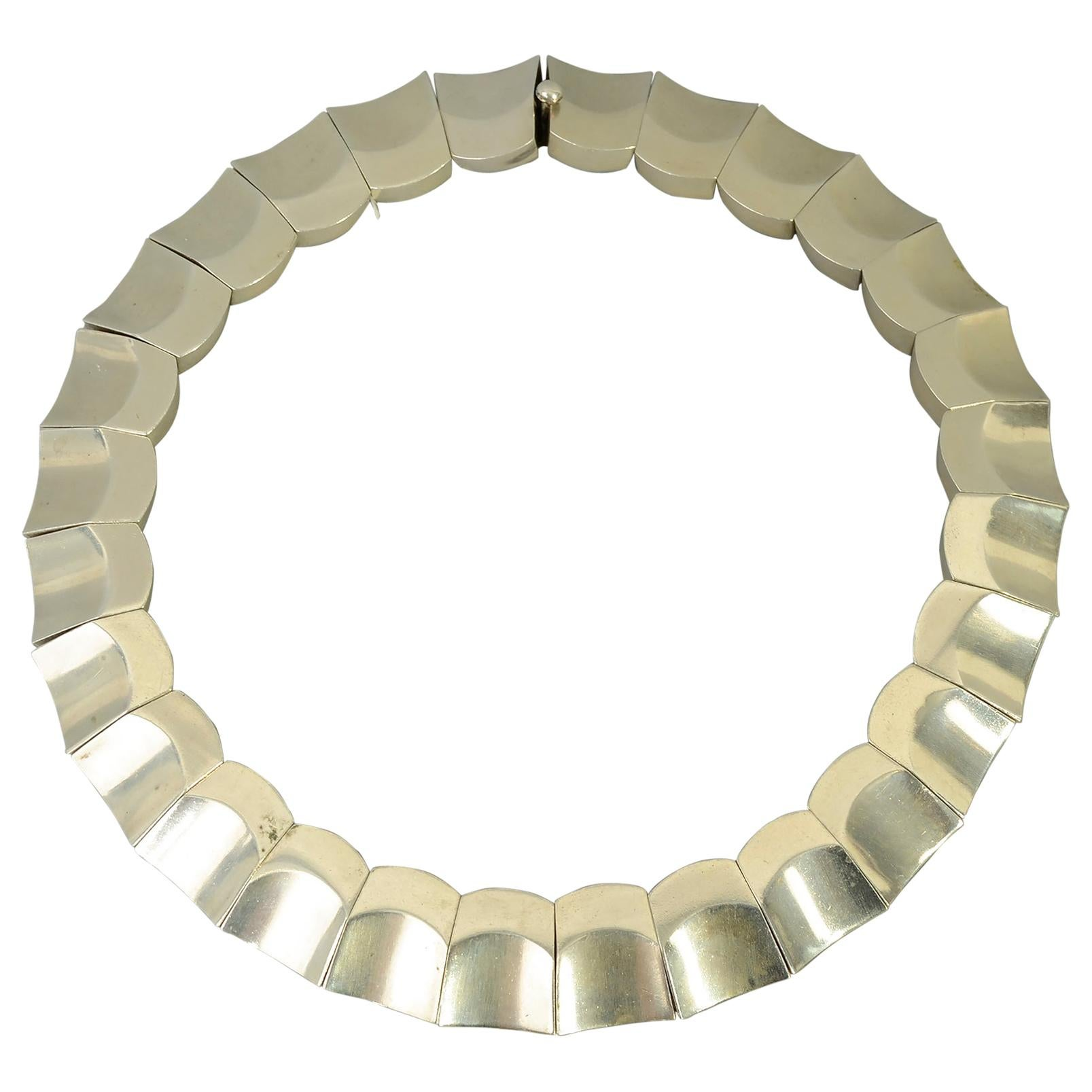 Antonio Pineda Sterling Silver Thumbprint Necklace