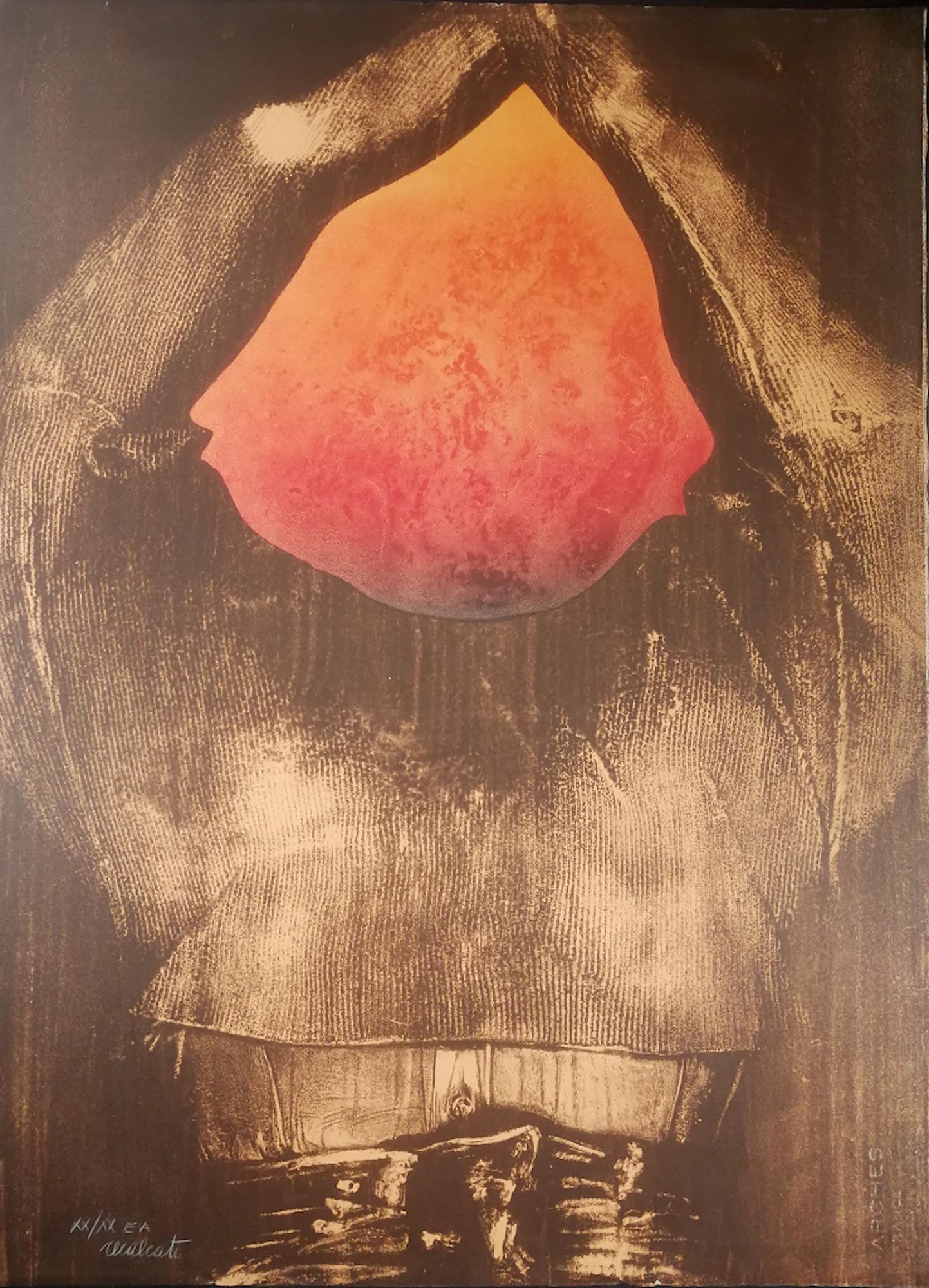 Composition - Original Silkscreen by Antonio Recalcati - Late 1900