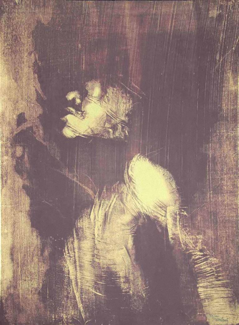 The Shape - Original Lithograph by Antonio Recalcati - 1970s