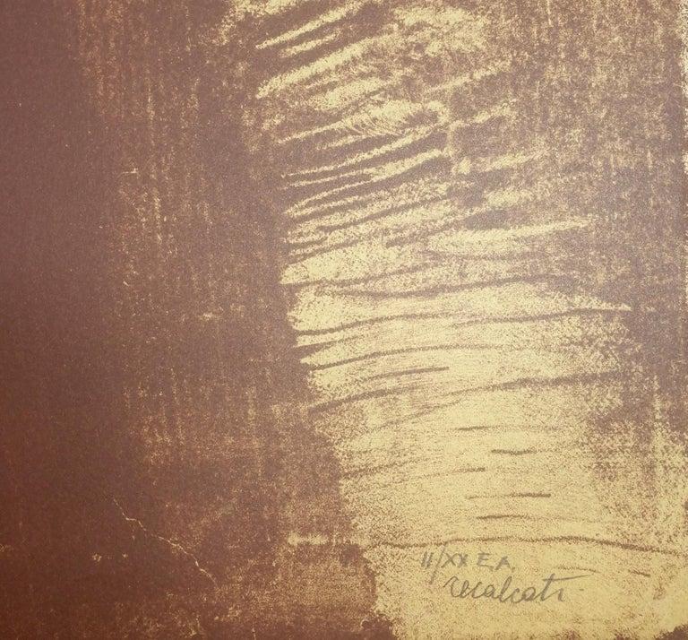 The Shape - Original Silkscreen by Antonio Recalcati - Late 1900 For Sale 1