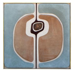 Antonio Roca Textile Composition in Suede Linen & Patinated Bronze Mexico, 1970s