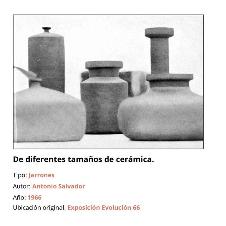 Antonio Salvador Orodea Stoneware Vessel For Sale 3