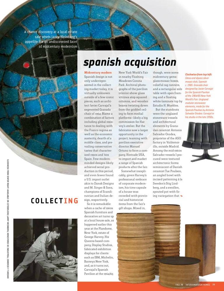 Antonio Salvador Orodea Stoneware Vessel For Sale 4