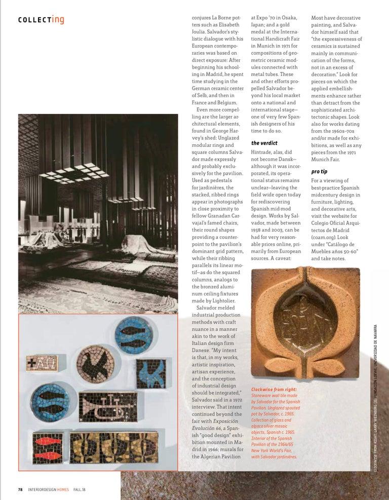 Antonio Salvador Orodea Stoneware Vessel For Sale 5