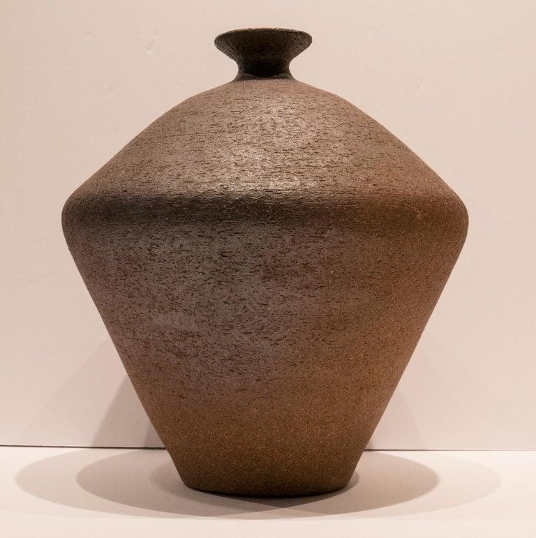 Antonio Salvador Orodea Stoneware Vessel In Good Condition For Sale In New York, NY