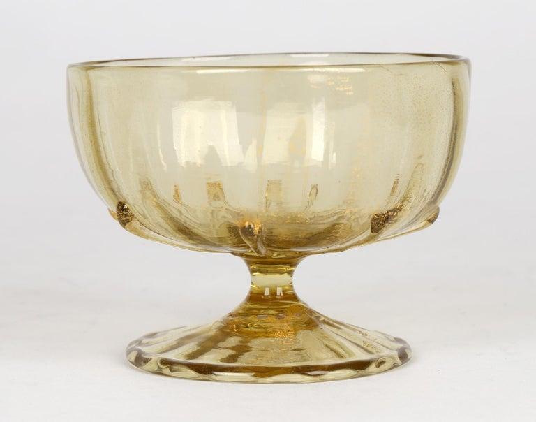 Antonio Salviati Pair Venetian Revival Art Glass Dessert Bowls and Stands For Sale 13