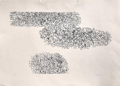 Abstract Composition - Original Screen Print on Paper by A. Sanfilippo - 1971