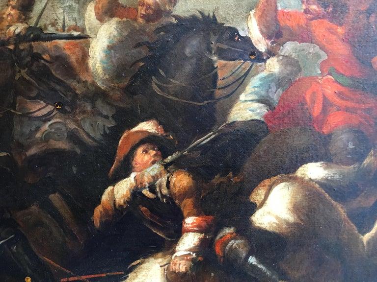 Land battle - Antonio Savisio Italia 2006 - Oil on canvas cm.60x90. Gold leaf gilded wooden frame cm.92x122