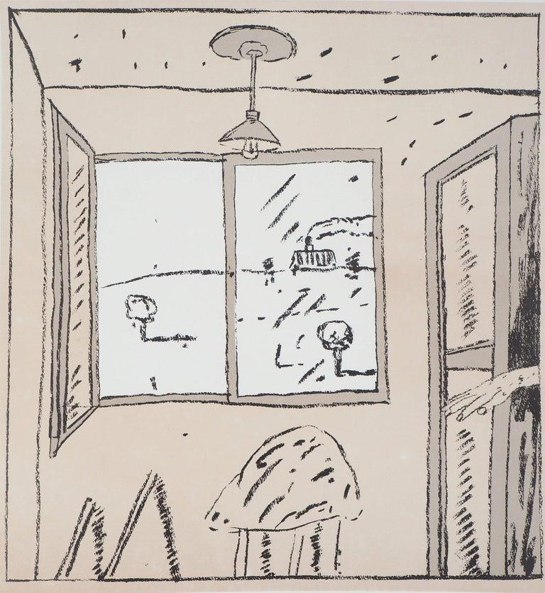Argentina : From my Window - Vintage exibition poster (Carmen Martinez Gallery) - Print by Antonio Seguí