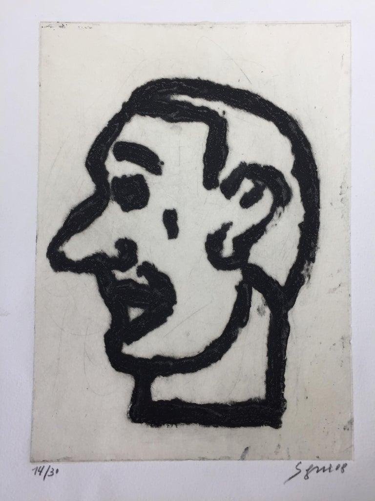 Antonio Seguí Portrait Print - Tête d'Homme