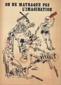 1968 After Antonio Segui 'On Ne Matraque Pas L'Imagination' Modernism