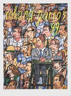 1999 Antonio Segui 'Roland Garros French Open' Contemporary Multicolor France