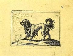 Dog - Original Etching by Antonio Tempesta - 1610s