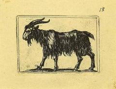 Goat - Original Etching by Antonio Tempesta - 1610s