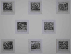 Old Testament Plates - Original Etching by Antonio Tempesta - 17th Century