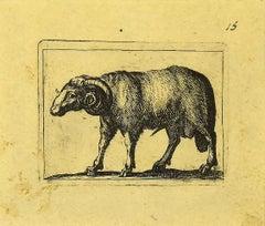 Ram - Original Etching by Antonio Tempesta - 1610s