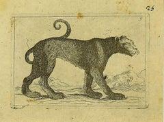 The Cheetah - Original Etching by Antonio Tempesta - 1610s