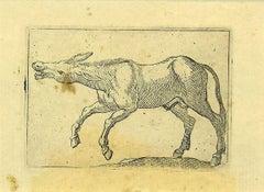 The Donkey - Original Etching by Antonio Tempesta - 1610s