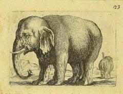 The Elephant - Original Etching by Antonio Tempesta - 1610s