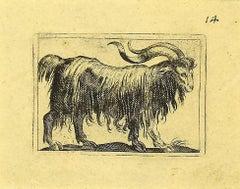 The Goat - Original Etching by Antonio Tempesta - 1610s