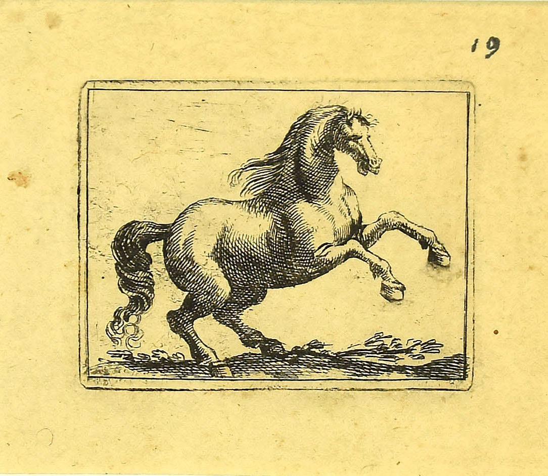 The Horse - Original Etching by Antonio Tempesta - 1610s