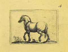 The Horse - Original Etching by Antonio Tempesta - 1610s