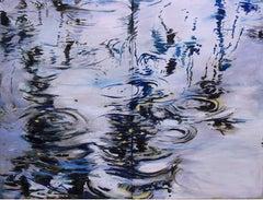 Light Reflection Diptych 38 X48 Blues
