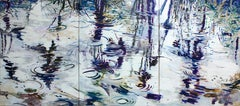 Morning Waters-Triptych 40 X 90